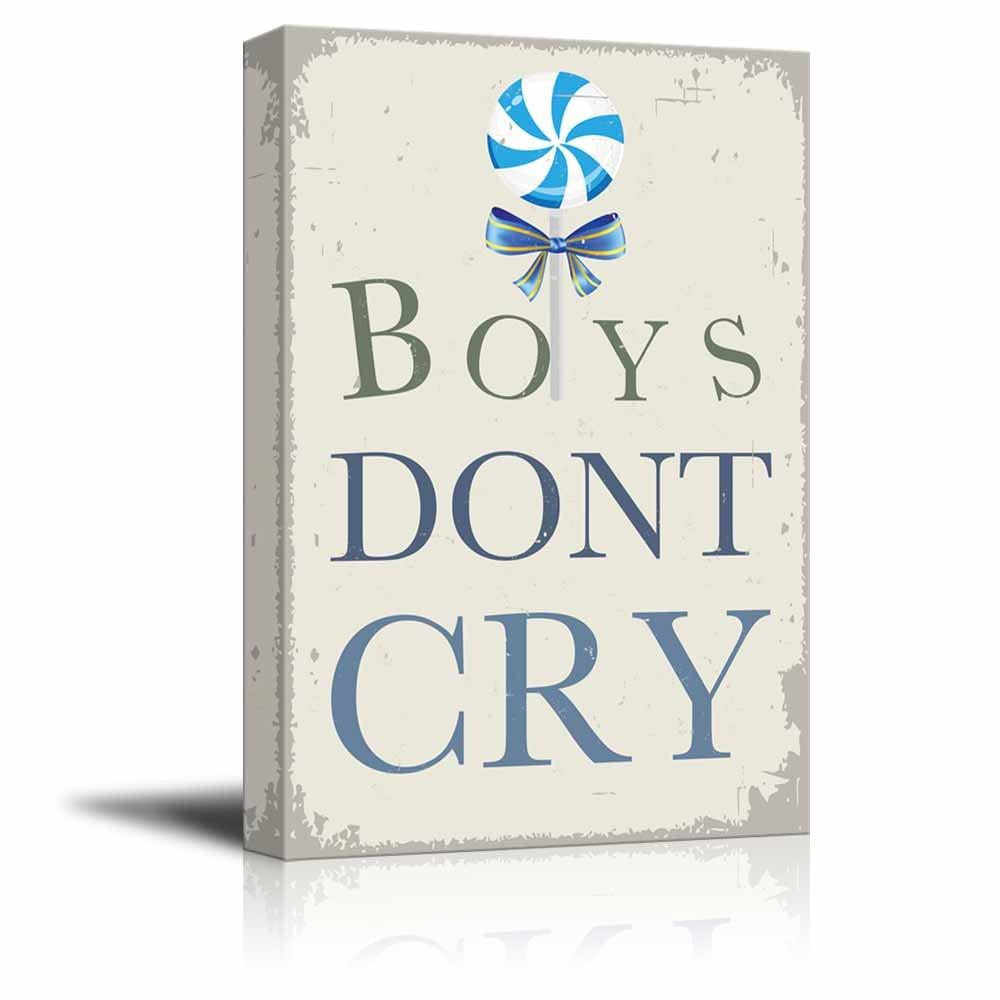 d488232bb Vintage Style Boys Dont Cry - Canvas Art | Wall26