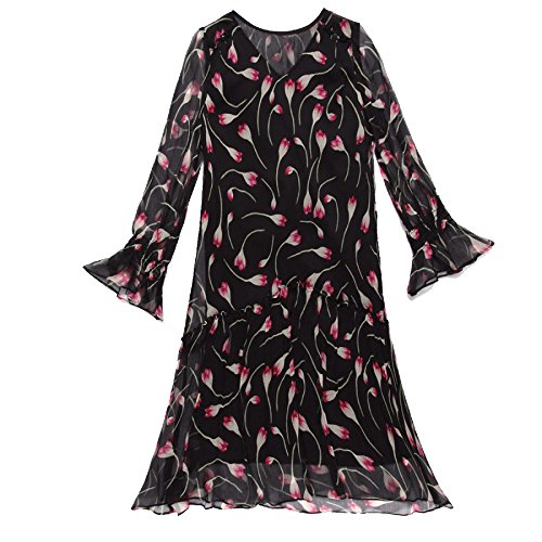 Ausschnitt A Linie Black Hülse Maxi Weibliche Kleid Sommerkleid Seidenkleid Frauen Lange Mode Sommer Abendgesellschaft Strand Rock V Horn Drucken EwvxS8zq