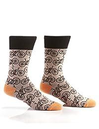 Yo Sox Sport Inspired  Funky Funky Men's Crew Socks for Dress or Casual Wear Size