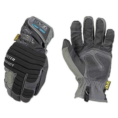Mechanix Wear MCW-WA-010  - Impact Winter Gloves (Large, Grey/Black)