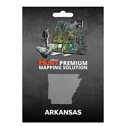 onXmaps HUNT Arkansas: Digital Hunting Map For Garmin GPS + Premium Membership For Smartphone and Computer Color Coded Land Ownership 24k Topo Hunting Specific Data