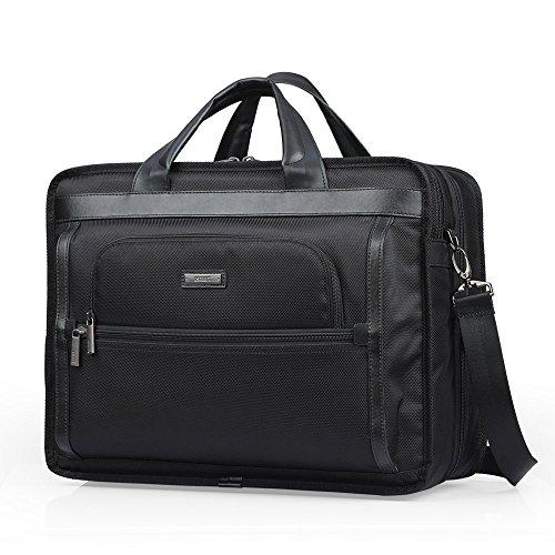 Oscaurt Large Expandable Briefcase Laptop Messenger Case Business Office Travel