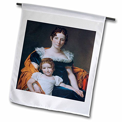 BLN Paintings of Children Fine Art Collection - Portrait of Vicomtesse Vilain XIV and Daughter by Jacques Louis David - 18 x 27 inch Garden Flag (fl_169636_2)