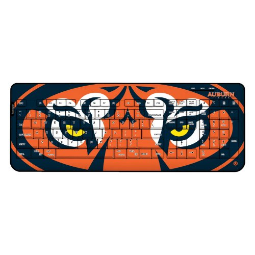 Auburn Tigers Keyscaper Wired Keyboard officially licensed by Auburn University Full Size Low Profile Direct Print Plug & Play by keyscaper® by Keyscaper