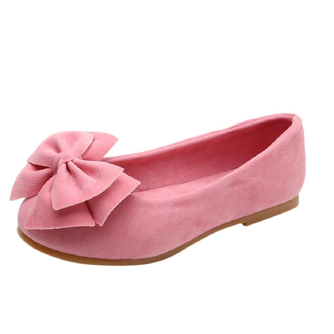 Toddler Kids Children Teen Girls Ballet Shoes Slip on Bowknot Shoes Dress Shoes Girls Flats (12M-12Y) by Lowprofile