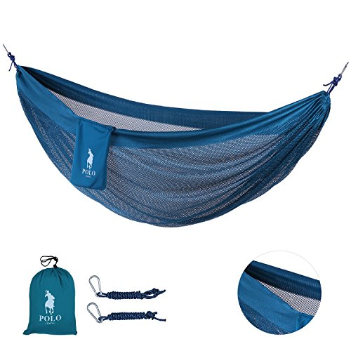 COOLER MESH Double Hammock-VIDENG POLO Breathable & Quick Dry Portable Foldable Hammock for Beach Camping Hiking Backpacking Yard (Halloween Surprise Parks And Recreation)