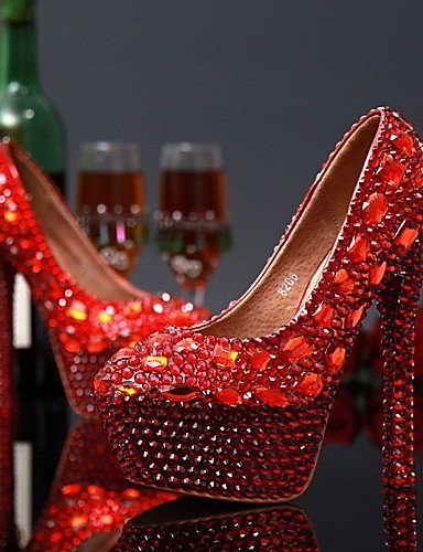 ShangYi Schuh Damen - Hochzeitsschuhe Hochzeitsschuhe Hochzeitsschuhe - Absätze - High Heels - Hochzeit / Party & Festivität - Rot / Weiß , 5in & over-Weiß  - 81bc33