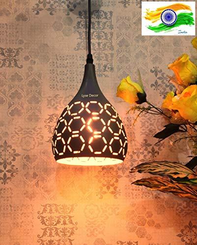 Lyse Decor 60W Pendant Light, Matte Gray, Curved Shape