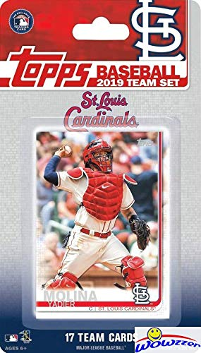 St. Louis Cardinals 2019 Topps Baseball EXCLUSIVE Special Limited Edition 17 Card Complete Team Set with Yadier Molina, Paul Goldschmidt & Many More Stars & Rookies! Shipped in Bubble Mailer! WOWZZER!