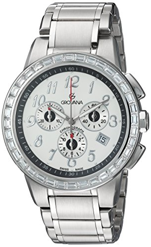 Grovana-Mens-2094-9732-Contemporary-Analog-Display-Swiss-Quartz-Silver-Watch