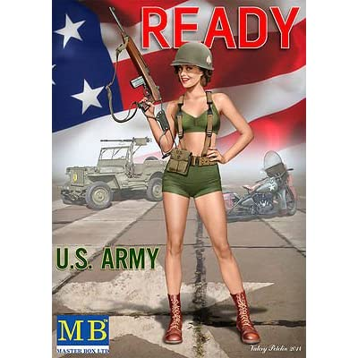 Masterbox US Army Girl PIN-UP Series , KIT № 3 Alice 1/24 Master Box 24003: Toys & Games