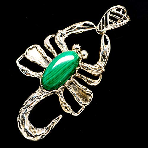 Malachite Vintage Pendant - Ana Silver Co Malachite Scorpion Pendant 2 1/4