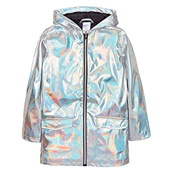 new style a9981 e695f The Pyjama Party Bébé Filles Holographique Argent Veste Résistant à l eau  Pluie Manteau Mac