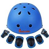 Lanova-Toddler-Kids-Helmet-Knee-Elbow-Pads-Wrist-Guards-Adjustable-Bike-Skating-Skateboard-Helmet-for-Kids