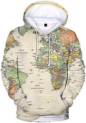 Casual Hoodie,Men Plus Size Fashion Printed Zipper Pullover Long Sleeve Sweatshirt Tops Blouse for Men Teen Boys