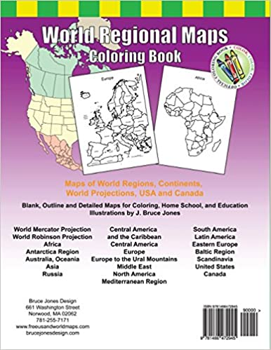Workbook continents for kids worksheets : Amazon.com: World Regional Maps Coloring Book: Maps of World ...
