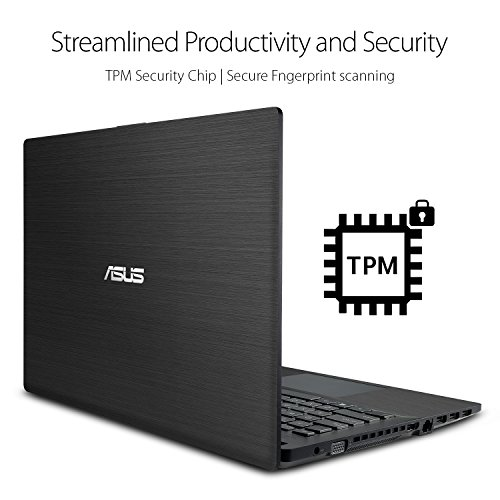 ASUS P-Series P2540UA-AB51 business standard Laptop, 7th Gen Intel Core i5, 2.5GHz (3M Cache, up to 3.1GHz), FHD Display, 8GB RAM, 1TB HDD, Windows 10 Home, Fingerprint, TPM, 9hrs battery life