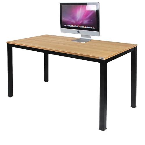Need Escritorios 120x60cm Mesa de Ordenador Escritorio de Oficina Mesa de Estudio Puesto de trabajo Mesa de Despacho teca Roble Color