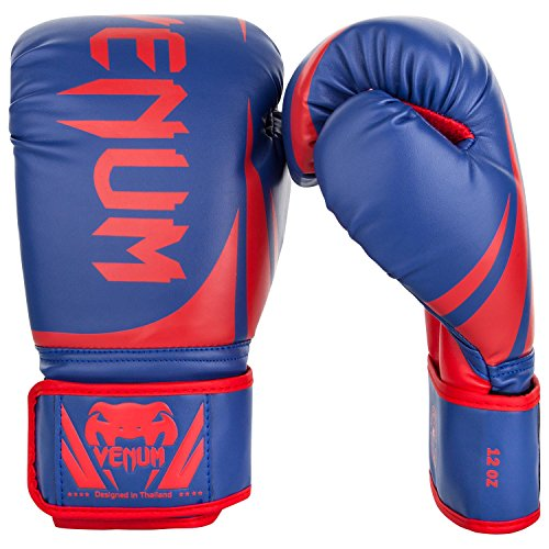 - Venum Challenger 2.0 Boxing Gloves - Blue/Red/White - 10-Ounce