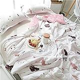 Amusingtao Air Conditioning Quilted Bedspread Girl Single Bedspread Cotton Bedspread Summer Quilt 150 * 200cm