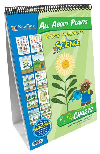 NewPath Learning All About Plants Curriculum Mastery Flip Chart Set, Early Childhood (Science Classroom Plant)