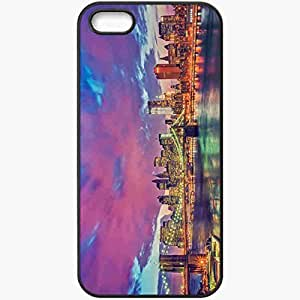 Protective Case Back Cover For iPhone 5 5S Case New York Brooklyn Bridge Manhattan Black