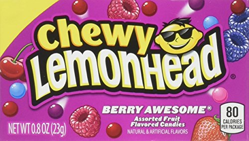 Lemonhead Chewy Berry Awesome, 0.8 Ounce Box, Pack of 24