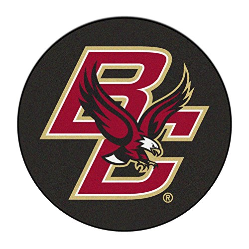 Boston College Floor Mat (Boston College Hockey Puck Area Rug)