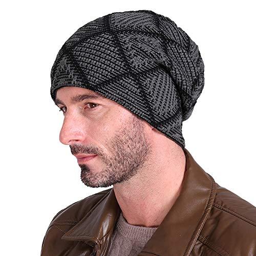 de14ca26fb4 Beanie Hat for Men Women Winter Warm Hats Knitting Baggy Slouchy Thick Skull  Cap