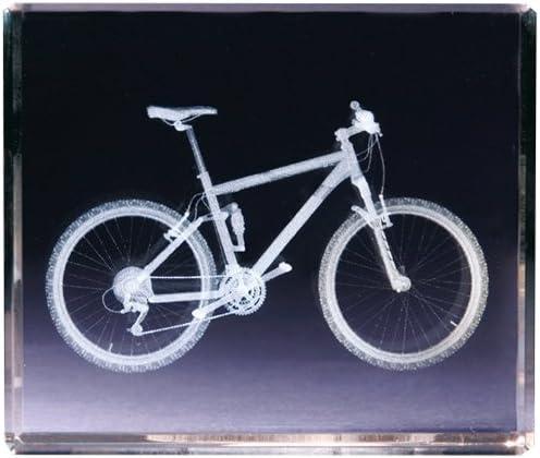 Classico 3D Cube Bicicleta de montaña, Cristal, Transparente: Amazon.es: Hogar