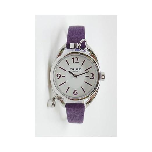 Reloj Breil Tribe Trap ew0163 al cuarzo (batería) acero quandrante blanco correa piel: Amazon.es: Relojes