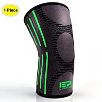 Lepfun PR918 Knee Support, Compression Knee Sleeve(Single) - Best Knee Brace for Meniscus Tear ,Knee Pain and Arthritis, Ideal for Running, Jogging, Hiking, Workout...