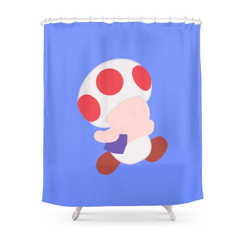 Amazon Society6 Mario Party Toad Shower Curtain 71 By 74 Ejgomez Home Kitchen
