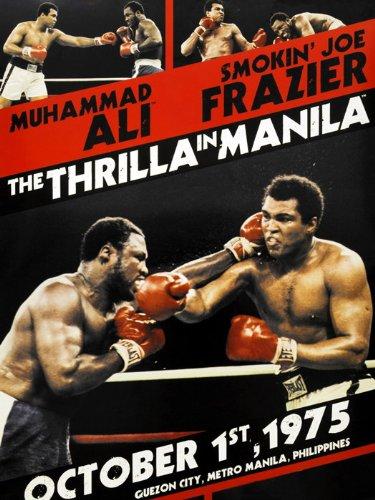 SD6904 Thrilla in Manila Joe Frazier vs Muhammad Ali Sport 24x18 Print POSTER