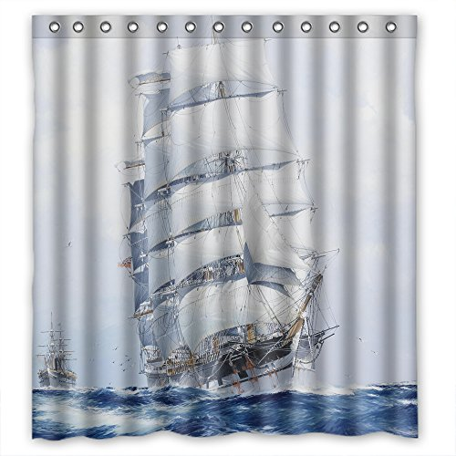 ONLLY Christmas Shower Curtains Width X Height / 72 X 72 Inches / W H 180 By 180 Cm(fabric) Nice Choice For Him Boys Kids Girl Kids Boys. Easy Care ()