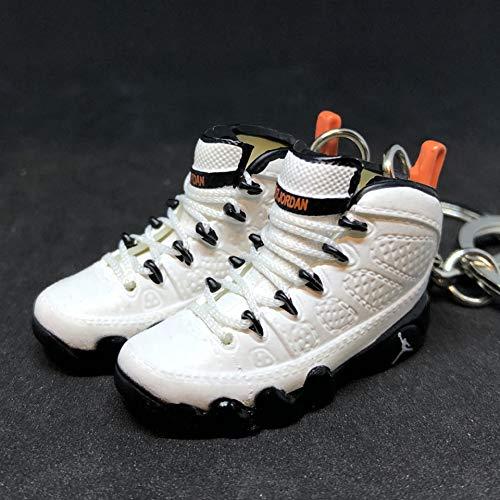 0209151695291d Pair Air Jordan IX 9 Retro Oregon State PE OG Sneakers Shoes 3D Keychain 1
