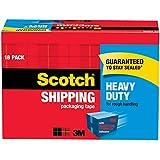 "Scotch Heavy Duty Shipping Packaging Tape, 3"" Core, 1.88"" x 54.6 Yards, 18-Rolls (3850-18CP)"