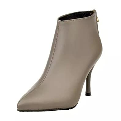 743bb67f7d7f Binying Boots Femme Montantes Aiguille Fermeture Éclair  Amazon.fr   Chaussures et Sacs