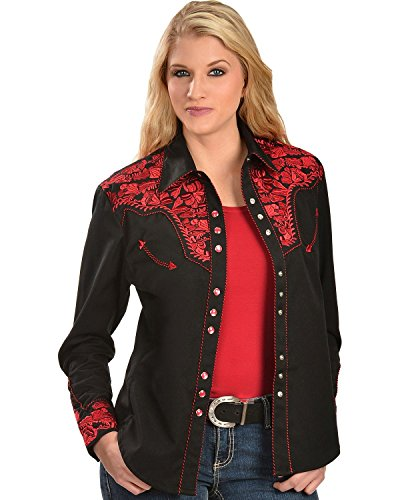 e61868d1 Scully Women's Silver Western Embroidered Shirt - Pl654-Slv   Weshop ...