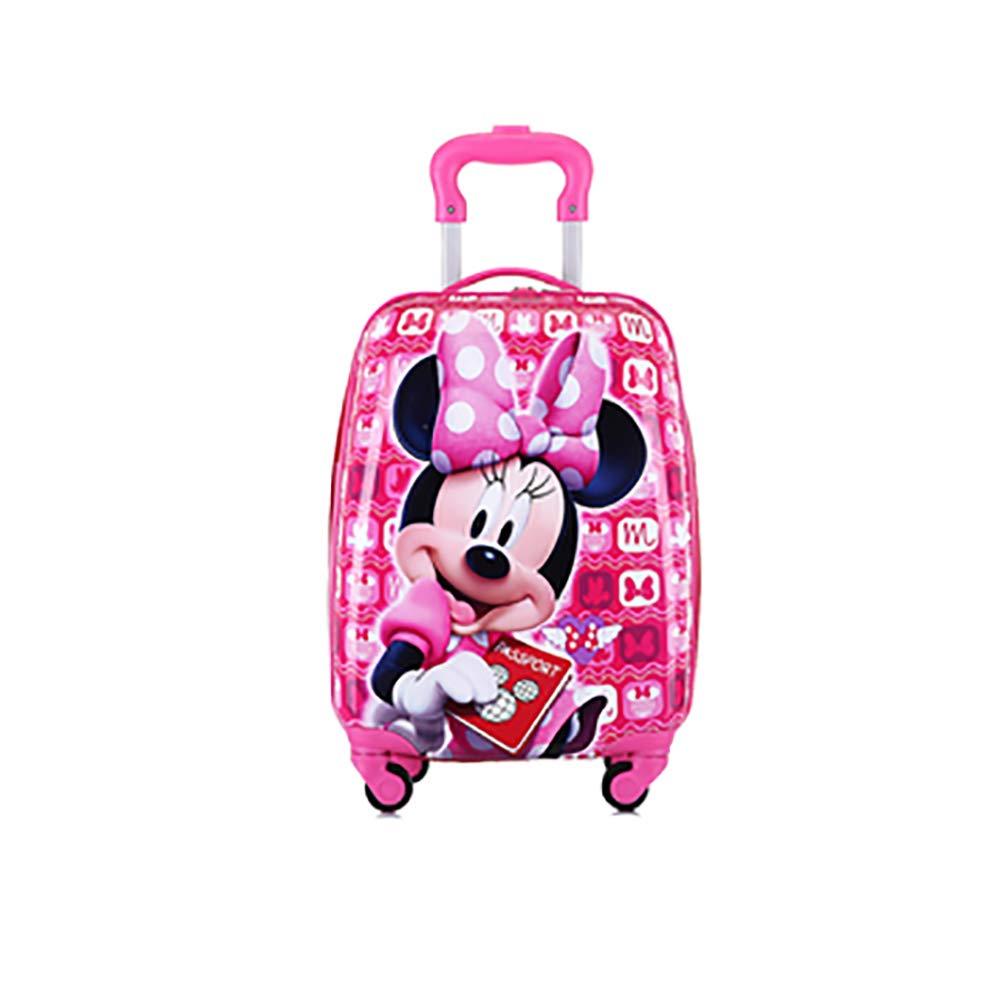 Travel Suitcase Kids Trolley Case Luggage Cute Cartoon Four Wheel Tow Box Trolley Case 18 Inch Minnie