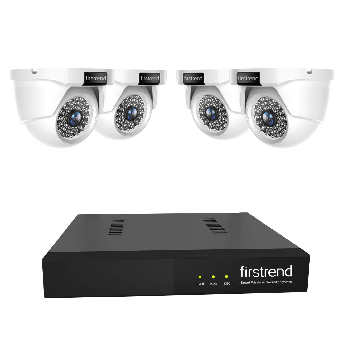 4MP Security Camera System PoE Dome Camera Systems 5MP NVR 4pcs 1440P IP Cameras Video Survalliance over Ethernet for Home Business Outdoor Indoor