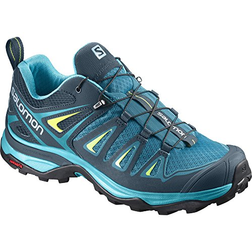 Salomon Women's X Ultra 3 Hiking Shoes Tahitian Tide/Reflecting Pond/Lime Punch 7.5 by Salomon