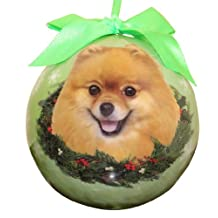 Pomeranian Christmas Ornament Shatter Proof Ball Easy To Personalize A Perfect Gift For Pomeranian Lovers