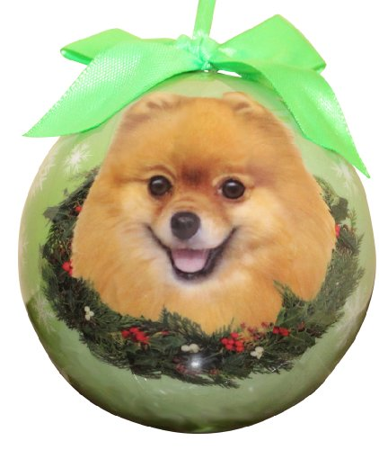 Pomeranian Gifts (Pomeranian Christmas Ornament Shatter Proof Ball Easy To Personalize A Perfect Gift For Pomeranian Lovers)