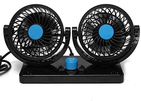 BONUS ET SALVUS TIBI (BEST) BestFire Ventilador de Refrigeración para Coche 12V Velocidad Ajustable 360 Grado Giratorio Silencioso Ventilación Fan para Coche SUV: Amazon.es: Electrónica