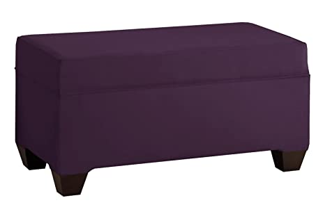 Amazon Skyline Furniture Velvet Upholstered Storage Bench