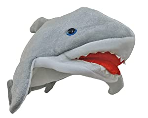Novelty Giant Plush Killer Shark Jaws Great White Costume Hat