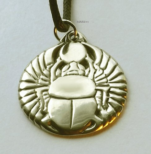 Winged Scarab - Pewter Pendant - Ancient Egypt, Egyptian Art, Beetle, Jewelry
