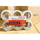 """Tape Co. Strong Commercial Grade Clear Packing Tape for Shipping, Moving, Office & Storage 2.7Mil Thick,2 inch x 60yards (6 Rolls (60yd / 2"""" Wide))"""
