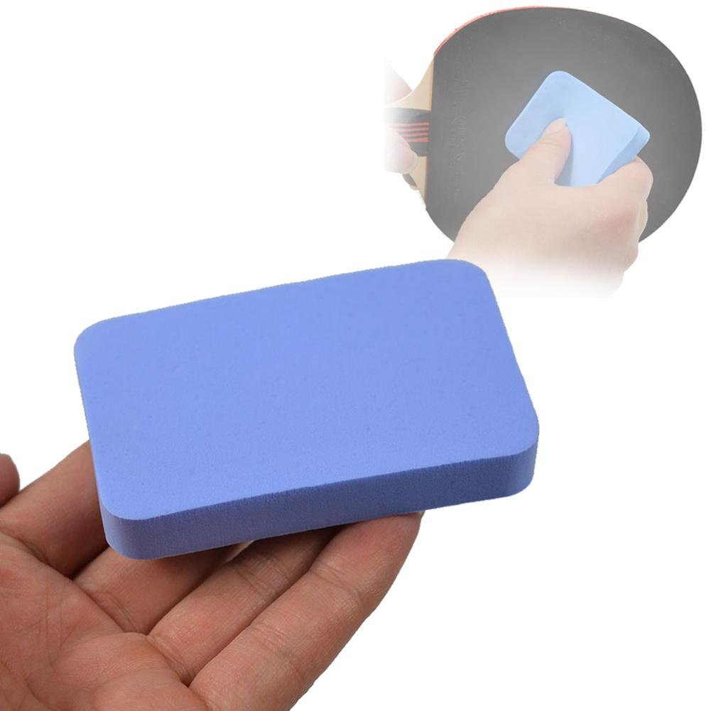 PROKTH Blue Washable Table Tennis Racket Rubber Cleaner Racket Table Tennis Care Rubber Cleaning Sponge